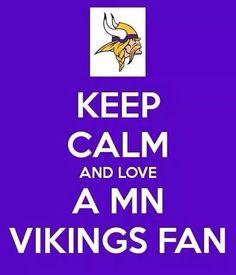 I love my husband the Vikings fan!