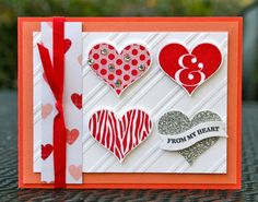 Krystal's Cards: Groovy Love Calypso and Red Instructions