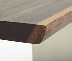dk3 Tree Table profile edge with splint. #Tree #Table #Profile #Edge #Splint #Smoked #Oak #Jacob #Plejdrup www.dk3.dk