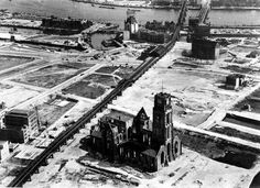 City without a heart...Picture taken after the bombardment of Rotterdam on may 14th 1940.