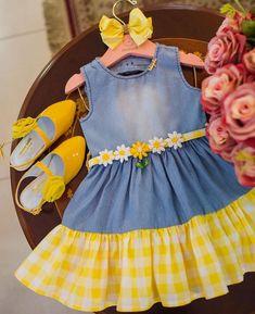 Frocks For Girls, Toddler Girl Dresses, Little Girl Dresses, Girls Dresses, Baby Girl Dress Patterns, Baby Dress Design, Kids Dress Wear, Kids Frocks Design, Baby Girl Boutique