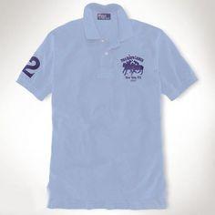 Ralph Lauren Men NEW YORK Light Blue Short Sleeved Polo http://www.