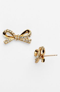 kate spade new york 'skinny mini' bow stud earrings | Nordstrom
