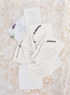 LOVE the raw edges of these wedding invitations! Would bet they are luxuriously thick too! On SMP: http://www.StyleMePretty.com/2014/03/04/elegant-outdoor-wedding-in-kenwood-california/ Jose Villa Photography