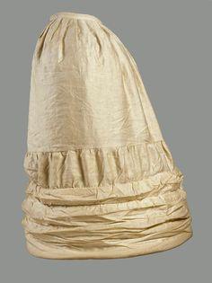Sateen Crinoline (Undergarment), c. 1860s.