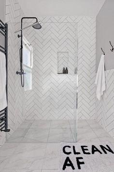 Metro Tile Bathroom Ideas: Gorgeous Bathrooms With Metro Tiles #Bathroomtile