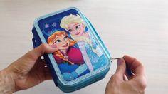 Treføjet Disney Frost penalhus med indhold