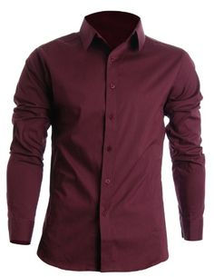 FLATSEVEN Mens Slim Fit Basic Dress Shirts Long Sleeve (SH400) Wine, M FLATSEVEN http://www.amazon.com/dp/B008LWDFHO/ref=cm_sw_r_pi_dp_Wiplub1ZTTC6F