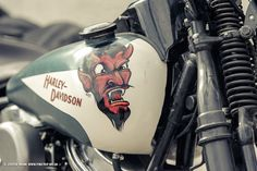 Devil Face on a Panhead Bobber - Click image too see more photos of this project.
