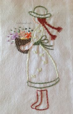 Anne of Green Gables Back Stitch Embroidery, Hand Embroidery Patterns Flowers, Embroidery Hoop Crafts, Basic Embroidery Stitches, Hand Embroidery Videos, Embroidery Flowers Pattern, Embroidery Motifs, Embroidery Hoop Art, Hand Embroidery Designs
