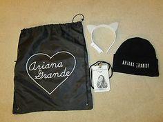 ariana grande 2015 cat ears | ... Ariana Grande Honeymoon Tour VIP Ticket Package Swag Bag, Concert Cat