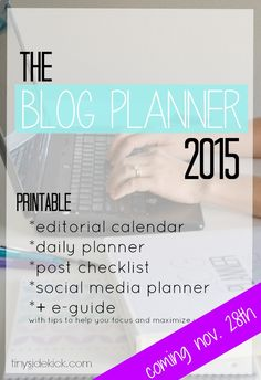 The Blog Planner 201