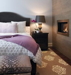 Bedroom ideas - colors and fireplace. Originally from: http://houseandhome.com/design/photo-gallery-soft-feminine-rooms