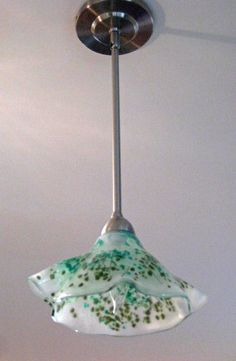 Fused and draped custom glass shade by Alice Gebhart.
