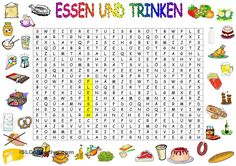 to eat and drink - Deutschunterricht Teaching Materials, Teaching Resources, German Resources, German Grammar, German Language Learning, Learn German, Kids Learning, Worksheets, Back To School