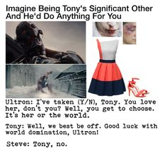"""""""Imagine Being Tony's Significant Other And He'd Do Anything For You"""" by alyssaclair-winchester ❤ liked on Polyvore featuring Lattori, ALDO, imagine, Avengers, marvel, ironman and TonyStark"""