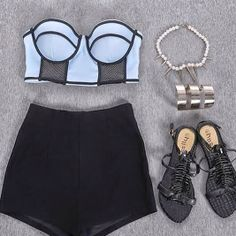 How to Chic: DULA TONE BANDEAU - OUTFIT SET