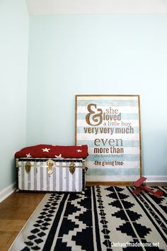 Good tutorial for large sign. This is a good idea to start with for the sign for her room...