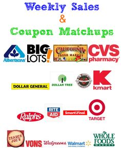 Get Weekly Store Sales & Coupon Matchups to all your favorite stores!