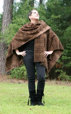 #Chocolate #Brown #Cheetah Print #Shawl - Double Sided #Microfleece #Wrap | DonnasDesignsSC - #Clothing on ArtFire #TY #afpounce
