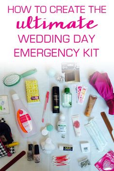 Everything you need to create the ultimate wedding day emergency kit!