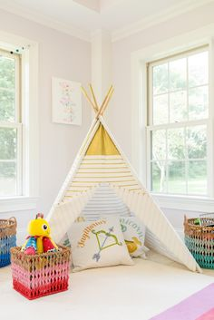 Kids' Playroom with Teepee - cozy spot for reading, playing or just cuddling!