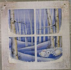 Winter Window Pane
