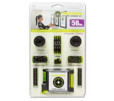 Includes: 8 Wall Hangers 4 Receivers 8 Receiver Fasteners 8 Wall Anchors 4 Wall Anchors with Stop 24 Bumpers 1 Precision Tape Measure with Level, Paper, and Pen Picture Hangers, Picture Frames, Wire Hangers, Hooks, Decorative Planters, Wall Anchors, Hanging Pictures, Tape Measure, Wall Hanger