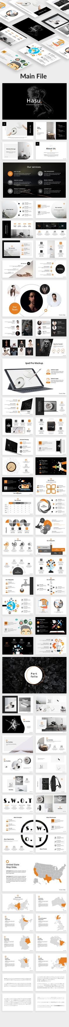 Hasu Creative Powerpoint Template — Powerpoint PPT #company #infographics • Download ➝ https://graphicriver.net/item/hasu-creative-powerpoint-template/20309716?ref=pxcr