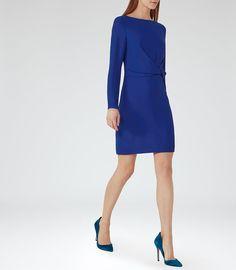REISS - ELLE KNOT-FRONT DRESS