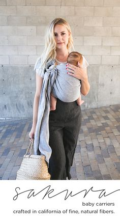 Baby carriers crafted of fine, all-natural fibers. Babies R, Cute Babies, Mom Outfits, Baby Boy Outfits, Sakura Bloom, Baby Mine, Pregnancy Looks, Cute Family, Child Love