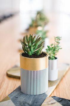 DIY Pipe Planter Favors http://ruffledblog.com/diy-pipe-planter-favors #diy #diyproject