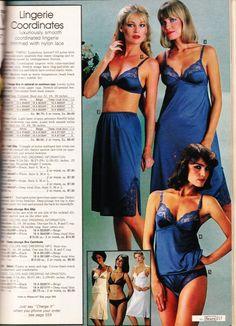 never too much blue lingerie. Blue Lingerie, Retro Lingerie, Sexy Lingerie, Fashion Lingerie, Vintage Slip, Lingerie Catalog, Vintage Underwear, White Slip, Shapewear