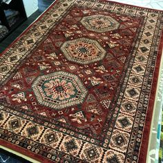 Rug Warehouse, Traditional Rugs, Classic Rugs, Tan Rug, Wool Area Rugs, Persian Rug, Rugs, Medallion Design, Bohemian Rug