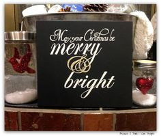 Merry And Bright, hand painted, wood sign, Christmas decor ...