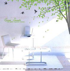 Arbre Wall Stickers sticker - Sonate vert