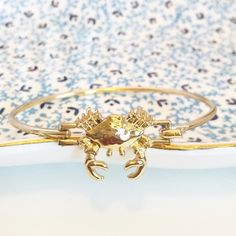 !HOST PICK! Crab bangle NWT RETAIL! Gold crab bangle with latch, one size. Jewelry Bracelets