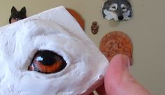 Painting Dog Eyes on Paper Mache - Ultimate Paper Mache