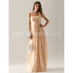 Empire Halter Floor-length Chiffon Bridesmaid Dress! LOVE LOVE LOVE IT!!