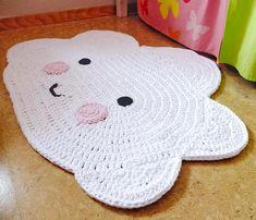 "Nursery carpet ""cloud"" / cloud carpet / crochet rug / crochet / carpet / cloud / cloud Kinderzimmerteppich Wolke / Wolkenteppich / by TaTihaekelt on Etsy Crochet Mat, Crochet Carpet, Crochet Home, Crochet Gifts, Crochet For Kids, Bandeau Crochet, Diy Tapis, Baby Kind, Crochet Doilies"