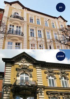 #Kamienica ul. Wileńska 9, wzniesiona w 1895, projekt Karla Bergnera.  #bydgoszcz #architektura #przedpo #beforeandafter