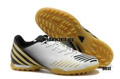 f2da945c6eac Adidas Predator 2013 LZ TRX TF Boots White Black Gold Beckham Soccer Shoes   52.89 Mens Soccer