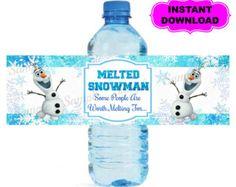 Frozen Water Bottle Labels Free