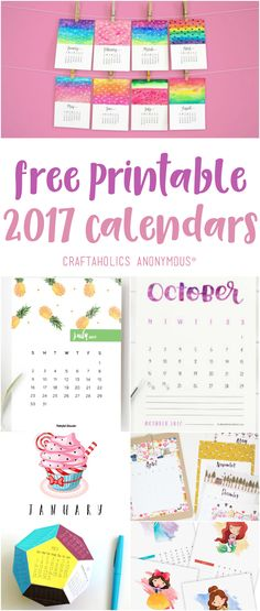 25 bright free printable 2017 calendars