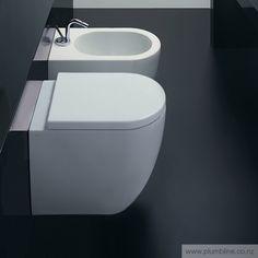 Sfera 52 Floor Mount Toilet With Standard Seat - Toilets & Bidets - Bathroom Contemporary Toilets, Corner Bathtub, Basin, New Homes, Flooring, Bathroom, Bath Time, Home Decor, House Ideas