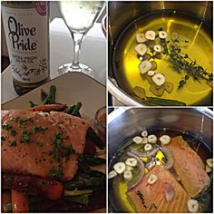 #EVOO Poached Salmon with Sauted Asparagus & Carrot & white wine butter sauce Preparation Time: 15 mins Cooking Time: 18 mins Serves: 2-4 www.lungiscorner.co.za/Blog White Wine Butter Sauce, Poached Salmon, Cooking Time, Asparagus, Great Recipes, Food To Make, Carrots, Steak, Pride