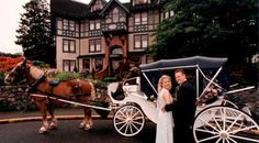 Traditional romance with a horse drawn carriage ride