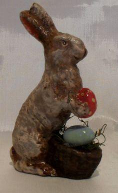 Primitive Handmade Easter Bunny Figurines by LauralCreek on Etsy SOLD Orders welcome