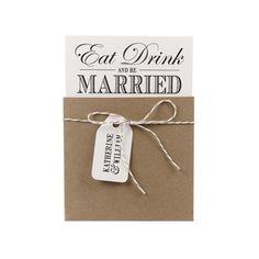 Eat Drink Be Married Wedding Invitation|Wedding Invitations