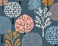 Grey Woodland limited edition giclee print by EloiseRenouf on Etsy